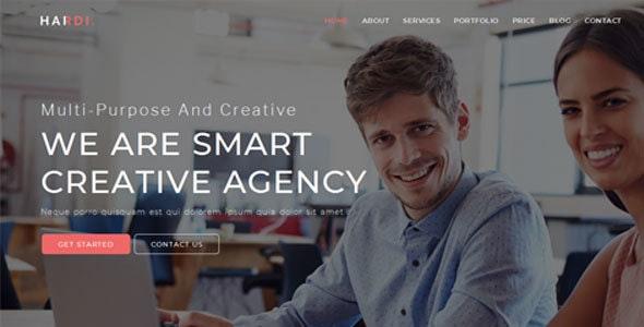 Hardi - Multi Purpose One Page Template - Creative Site Templates
