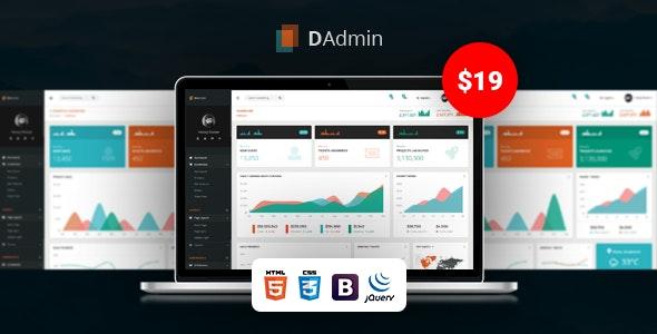 DAdmin - Responsive Bootstrap Admin Dashboard - Admin Templates Site Templates