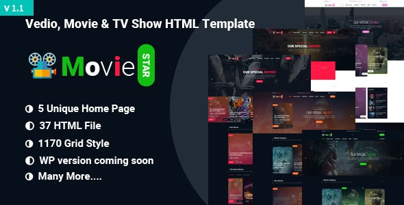 Movie,Video & TV Show HTML Template - Film & TV Entertainment