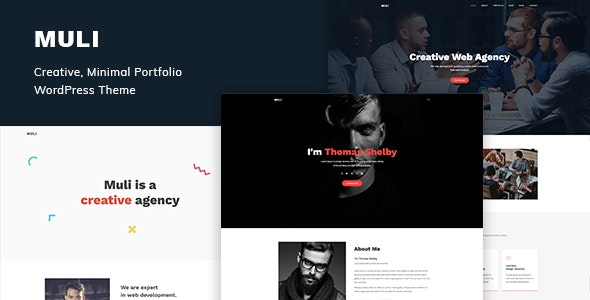 Muli - Creative, Minimal Portfolio WordPress Theme - Portfolio Creative