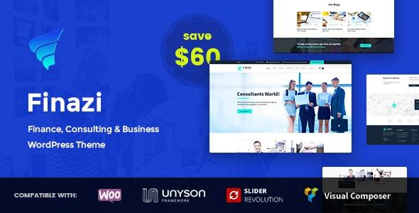 Finazi - Business & Finance WordPress Theme - Business Corporate
