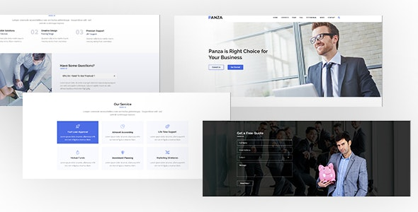 Panza-one Page Business PSD Template - Photoshop UI Templates