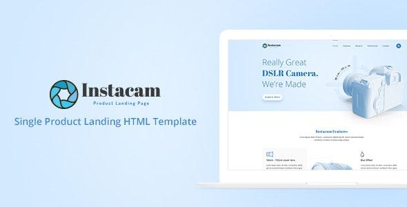 Instacam - Single Product Landing HTML Template - Site Templates
