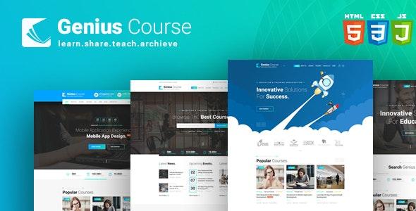 Genius Course - School Classes Institute HTML Template - Business Corporate