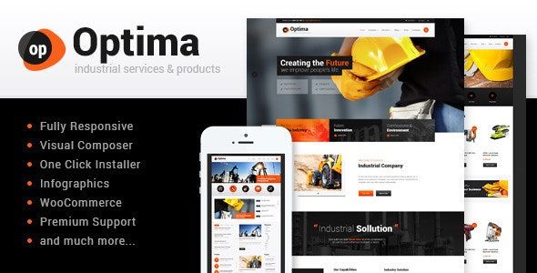 Optima | Steel Factory & Industrial Plant Manufactoring WordPress Theme - Business Corporate