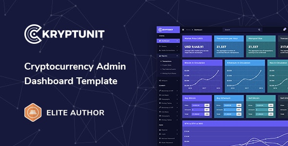 Kryptunit - Cryptocurrency Admin Dashboard Template - Admin Templates Site Templates