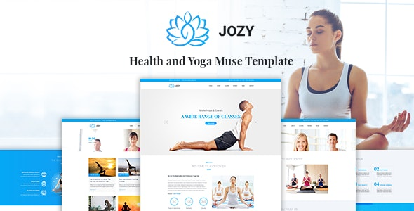 Jozy - Health and Yoga Muse Template - Muse Templates