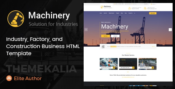 Machinery - Factory Business HTML Template - Business Corporate