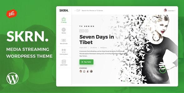 SKRN - Media Streaming App WordPress Theme by ProgressionStudios