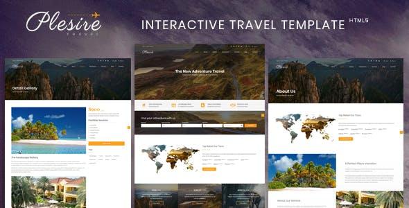 Plesire - Interactive Travel Template