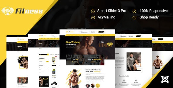 JD Fitness - Gym Joomla 3.9 Template - Joomla CMS Themes