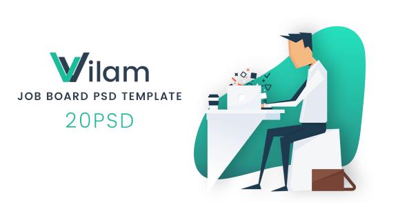 ViLam - Job Board PSD Template - Business Corporate