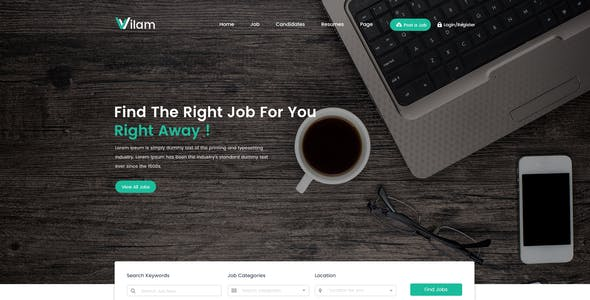 ViLam - Job Board PSD Template
