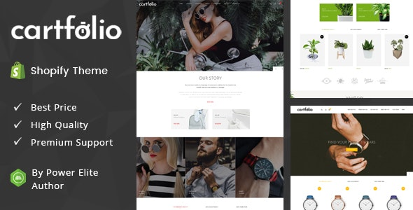 Cartfolio - Sectioned Multipurpose Shopify Theme - Fashion Shopify