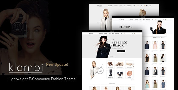 Klambi - Lightweight E-Commerce Fashion Theme - Fashion Retail