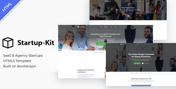 Startup Kit - SaaS Startup and Agency Bootstrap4 Template - Corporate Site Templates