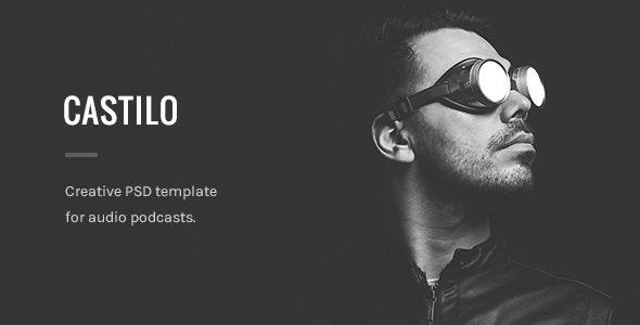 Castilo - Audio Podcast PSD Template - Film & TV Entertainment