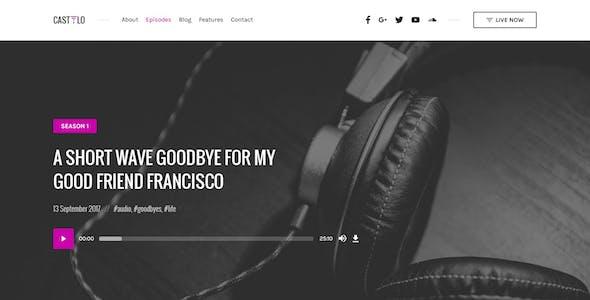 Castilo - Audio Podcast PSD Template