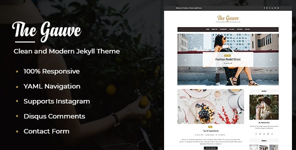 The Gauve - Top Jekyll Theme for Awesome Websites - Jekyll Static Site Generators