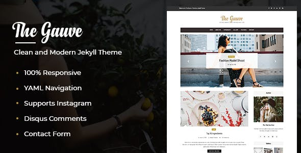 The Gauve - Top Jekyll Theme for Awesome Websites