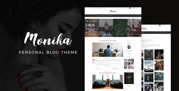 Monika   Personal Blog PSD Template - Creative Photoshop