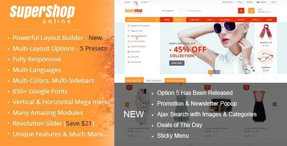 SuperShop – Responsive Prestashop 1.6 & 1.7 Theme - Shopping PrestaShop