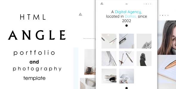 ANGLE || Portfolio and Photography Template - Creative Site Templates