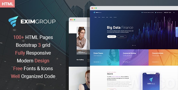 EximGroup - Finance And Business HTML Template - Business Corporate