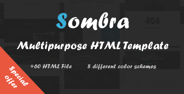Sombra - Multipurpose HTML Template - Site Templates