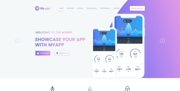 Myapp - App Promotional Landing Page Template