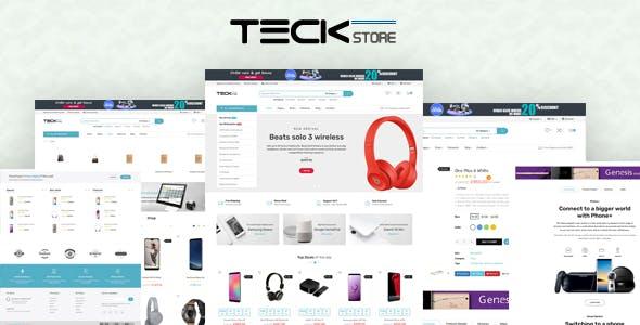 Teckstore - Electronics Store Prestashop Theme for Affiliates and Multi-demo Websites V1.6 & V1.7