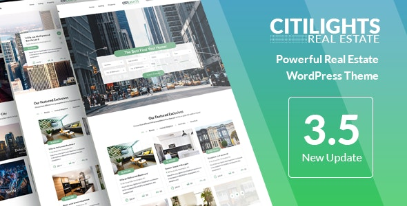 CitiLights - Real Estate WordPress Theme by NooTheme
