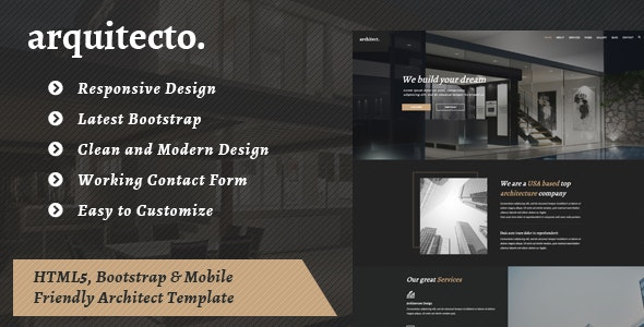 Arquitecto -  HTML Template for Architecture Business - Corporate Site Templates