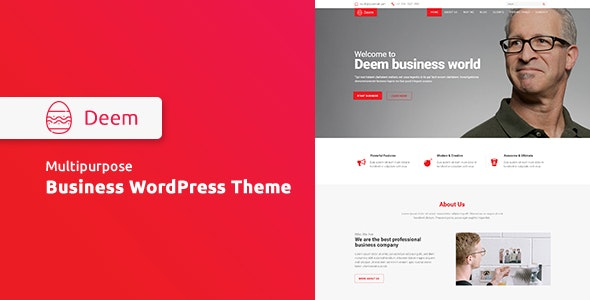Deem - Multipurpose Business WordPress Theme - Business Corporate