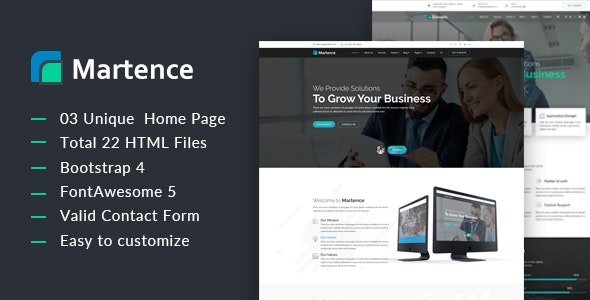 Martence || Corporate and Business Bootstrap4 Template - Business Corporate