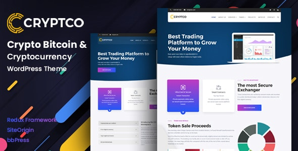 Cryptco - Cryptocurrency &  Saas Landing Page WordPress Theme - Technology WordPress