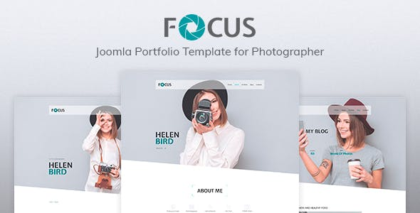 Focus — Photographer portfolio Responsive Joomla Template