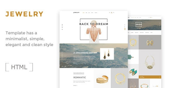 Jewelry- Ecommerce HTML5 Template - Shopping Retail