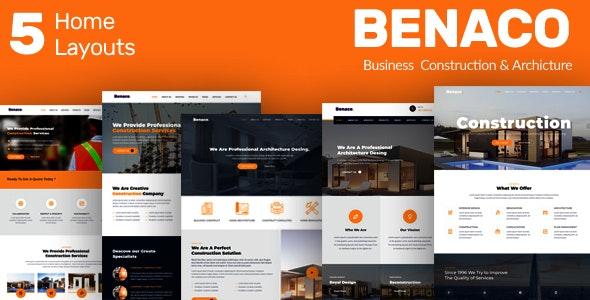 Benaco - Business Construction & Architecture Template - Corporate Site Templates