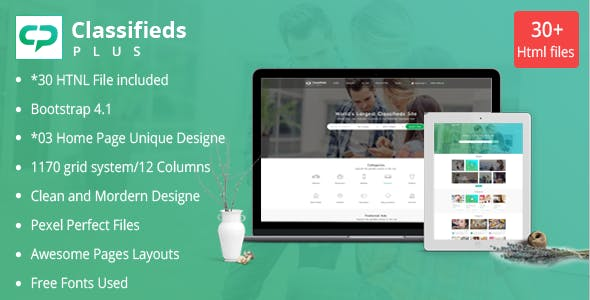 Classified Ads Plus - Classifieds Websites HTML Templates