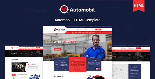 Automobil - Auto Servicing HTML Template