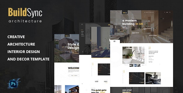 BuildSync- Architecture PSD Template - Creative Photoshop
