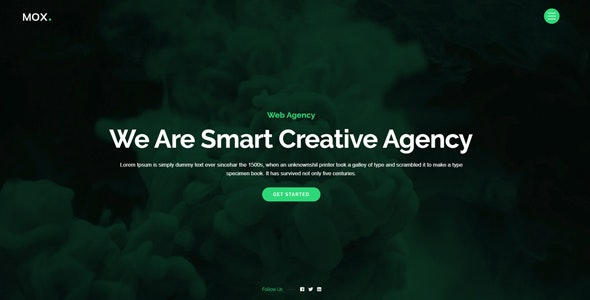Mox - Creative One Page Parallax - Creative Site Templates