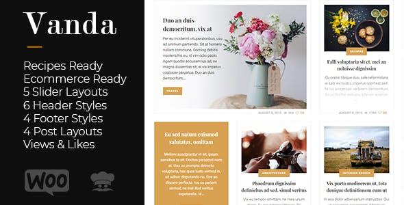 Vanda - Creative Blog / Magazine WordPress Theme