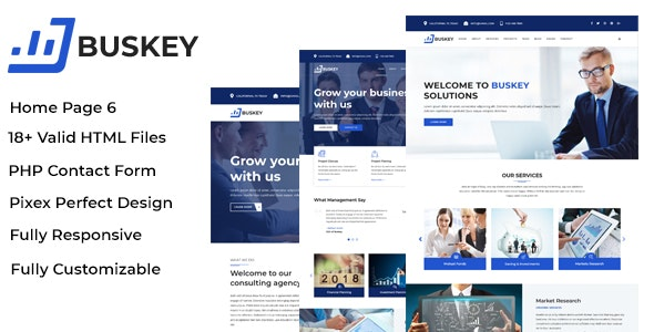 Buskey - Business Consulting and Corporate Template - Site Templates