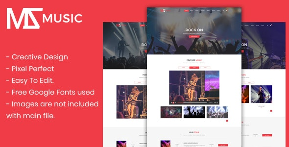 Msmusic - Music PSD Template - Entertainment Photoshop