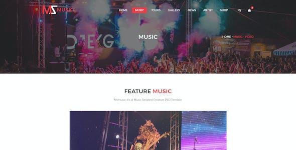 Msmusic - Music PSD Template
