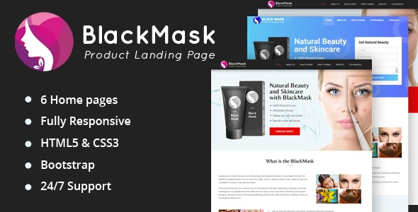 BlackMask - Product Landing Page - Health & Beauty Retail