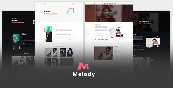 Melody Photographer One Page PSD Template - Photography Creative