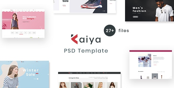 Kaiya - Multipurpose E-commerce PSD Template - Retail Photoshop